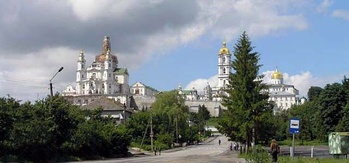 Pochayiv Lavra, the spiritual heart of the Ukrainian Orthodox Church in Volhynia.