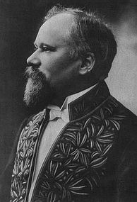 Raymond Poincaré was one of the five French heads of state who became members of the Académie Française. He is depicted wearing the habit vert, or green habit, of the Académie.