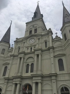 The St. Louis Cathedral in New Orleans has been in use since 1727