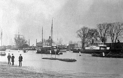 New harbor during the 1894 flooding