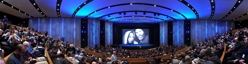 Panorama of the Auditorium in the Steve Jobs Theater at Apple Park in 2018