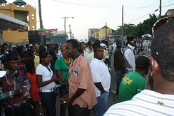 The streets of Kingston, Jamaica