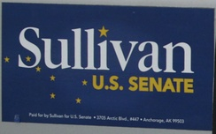 Bumper sticker from Sullivan's campaign