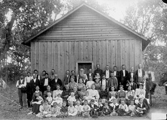 Sunday school, Indians and whites. Indian Territory (Oklahoma), US, c. 1900.