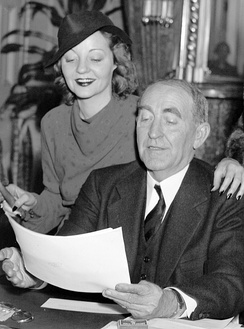 Tallulah with her father, Speaker of the House William B. Bankhead, in his office in Washington, D.C. (1937)