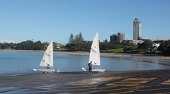 Sailboats at Takapuna Beach on the North Shore