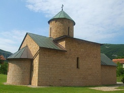 Renovated church of the Rmanj Monastery