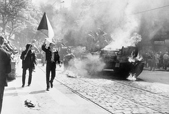 The Prague Spring political liberalization of the communist regime was stopped by the 1968 Soviet-led invasion.