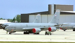 128th Air Refueling Wing KC-135s parked at General Mitchell ANGB