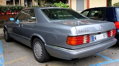 Facelift Mercedes-Benz C126 SEC (coupe)