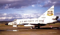 337th Fighter Group F-102 at Portland International Airport[note 4]