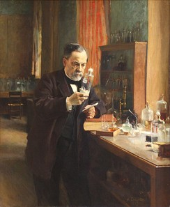 Louis Pasteur, as portrayed in his laboratory, 1885 by Albert Edelfelt