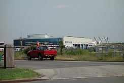 The DSNY District 14 Garage at the Edgemere Landfill.