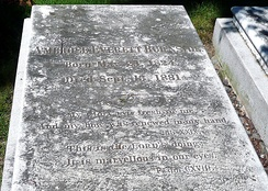 Burnside's grave in Swan Point Cemetery, Providence, Rhode Island