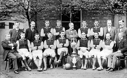 The Aston Villa team in 1897, after winning both the FA Cup and the Football League.