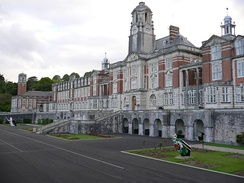 The Royal Navy officer training academy Britannia Royal Naval College at Dartmouth