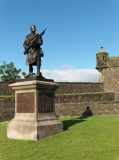 The Argyll and Sutherland Boer War Memorial at Stirling Castle.