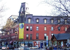 Brooks House, built in 1871 and originally a resort hotel, is the largest commercial building in Brattleboro. Damaged by fire in 2011, it re-opened in 2014