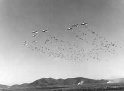 403rd TCW C-119s drop the 187th RCT over Korea, 1952.