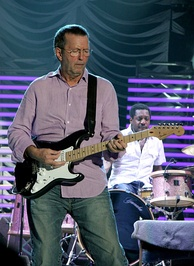 Clapton performing at the Ahoy Arena of Rotterdam on 1 June 2006
