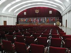 Plenary hall of the conference building