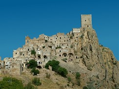 Craco, Italy, was abandoned due to a landslide in 1963. Now it is a popular film set.