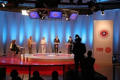 Chilean TV 2005 presidential debate on CNN en Español (Santiago, Chile).