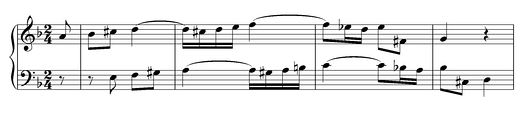 Duetto II from Clavier-Übung III by J.S.Bach