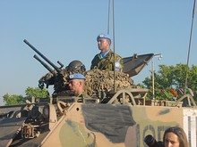 Australian M113 with twin mounted M1919 Browning and M2 Browning Quick Change Barrel machine guns.