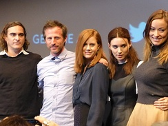 The cast of Her at the New York Film Festival in 2013.