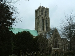 View of the south face of Howden Minster
