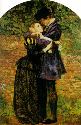 Millais' painting, A Huguenot on St. Bartholomew's day
