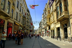 İstiklal Avenue is visited by nearly three million people on weekend days.