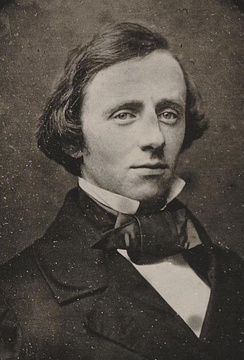 Portrait of James Burrill Angell as a young man.
