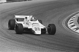Jan Lammers driving the Theodore TY02 at the Dutch Grand Prix in 1982