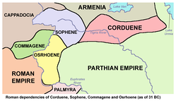 Roman dependency of Corduene (as of 31 BC)