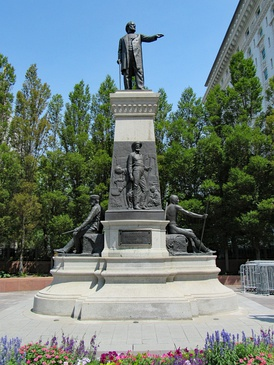 The Brigham Young Monument in Salt Lake City, Utah.