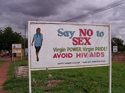 Ad promoting abstinence in Ghana: No Sex Ad (Anti-HIV/AIDS ― signage). Abstinence-only sex education is a form of sex education that teaches not having sex outside of marriage, most often excluding other types of sexual and reproductive health education, such as birth control and safe sex. Comprehensive sex education, by contrast, covers the use of birth control and sexual abstinence.