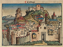 Idealized depiction of Carthage from the 1493 Nuremberg Chronicle.