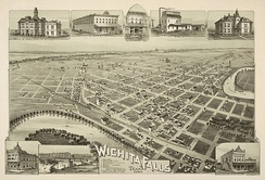 Map of Wichita Falls in 1890
