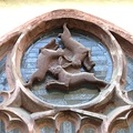 Dreihasenfenster (Window of Three Hares) in Paderborn Cathedral in Paderborn, Germany