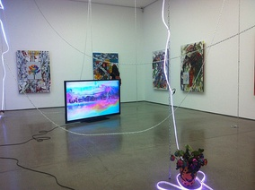 Post-Internet art is a contemporary art movement influenced by Internet culture. Maid in Heaven / En Plein Air in Hell (My Beautiful Dark and Twisted Cheeto Problem) by Post-Internet artist Parker Ito at the White Cube, 2014