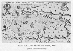 Port Royal and Annapolis Basin, 1609