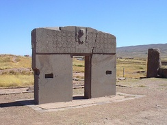 Puerta del Sol, Archaeological Zone of Tiwanaku, Bolivia