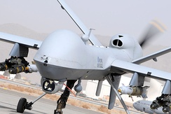 An RAF MQ-9 Reaper, similar to the one used in the strike against Rayeed Khan and Rahoul Amin in Syria.