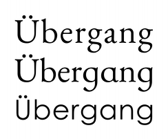 EB Garamond's regular and schoolbook versions of a and g. Single-storey characters are more commonly found as default in geometric sans-serif fonts such as Century Gothic, shown at bottom.