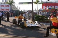Hunter-Reay's car at the 2011 Honda Grand Prix of St. Petersburg on the Streets of St. Petersburg.