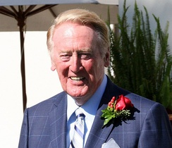 NBC television announcer Vin Scully