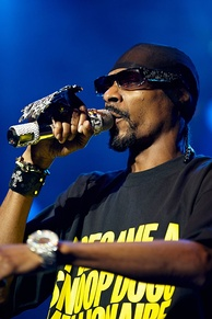 Rapper Snoop Dogg at a 2009 show.