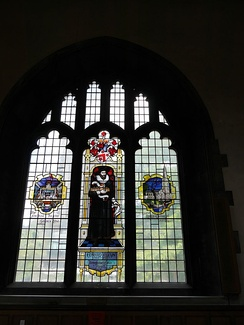Memorial window in St Giles-without-Cripplegate, London